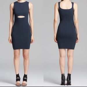 Helmut Lang Black Gala Knit Front Cutout Dress